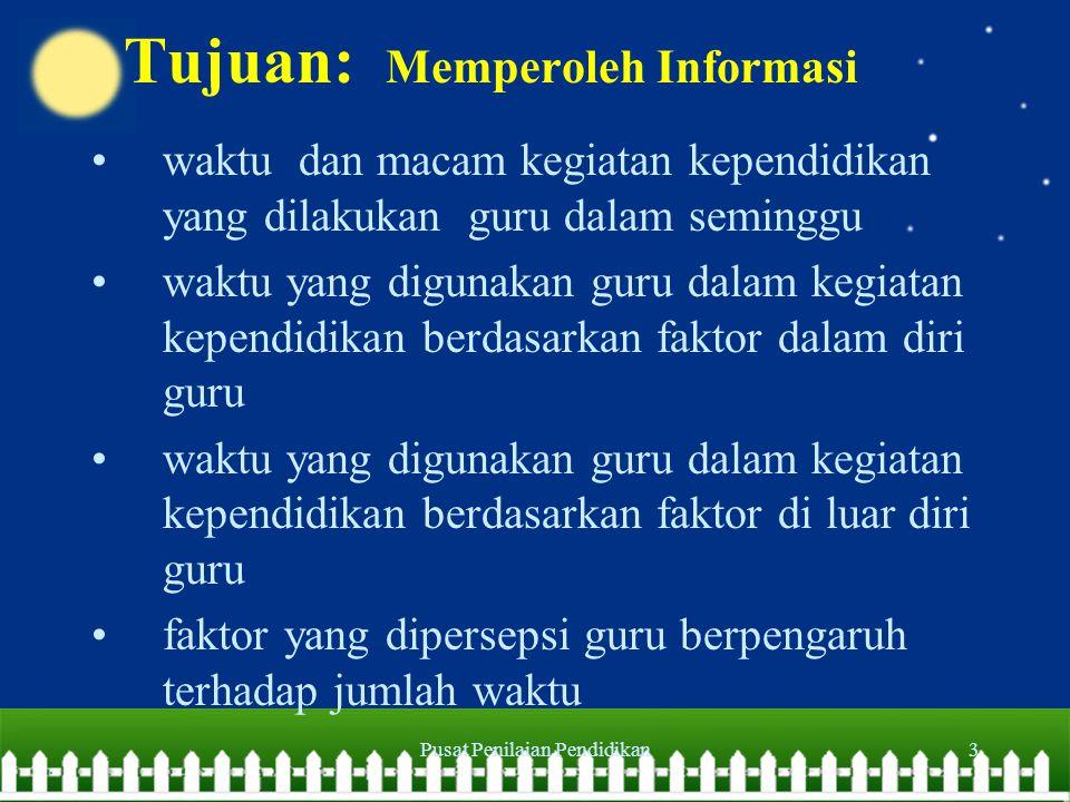 Tujuan: Memperoleh Informasi