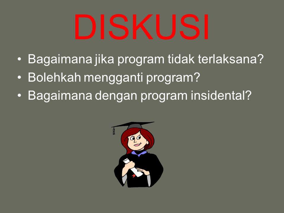 DISKUSI Bagaimana jika program tidak terlaksana