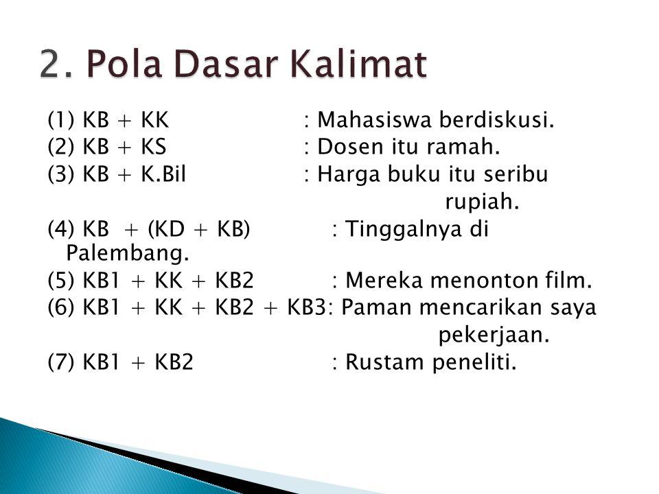 2. Pola Dasar Kalimat