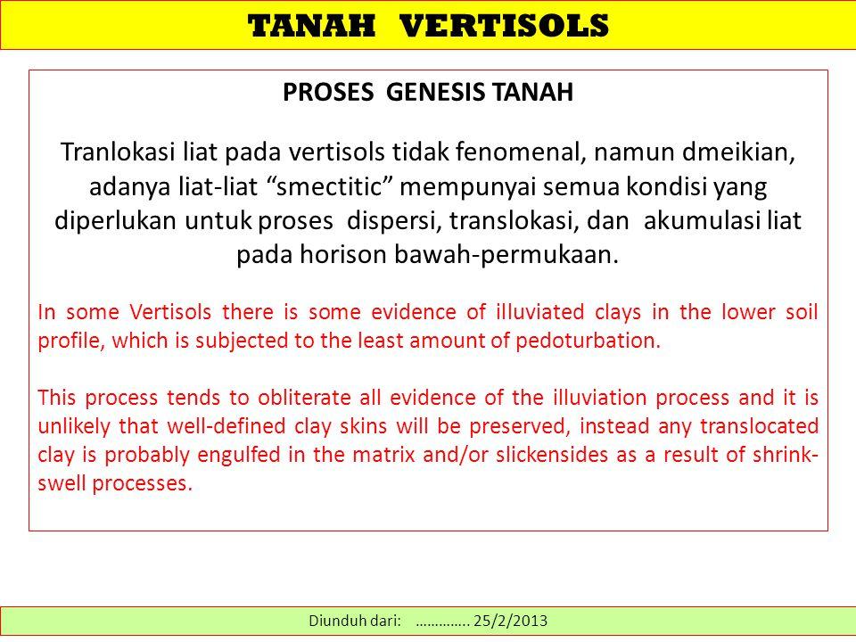 TANAH VERTISOLS PROSES GENESIS TANAH