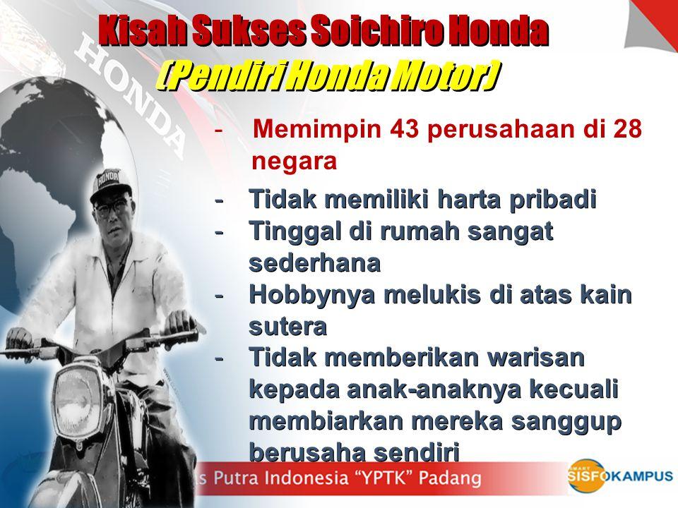 Kisah Sukses Soichiro Honda