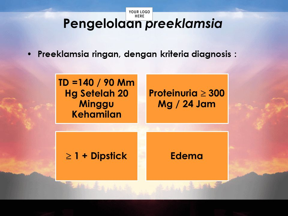 Pengelolaan preeklamsia