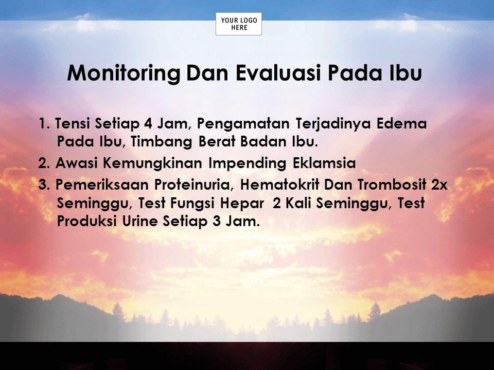 Monitoring Dan Evaluasi Pada Ibu
