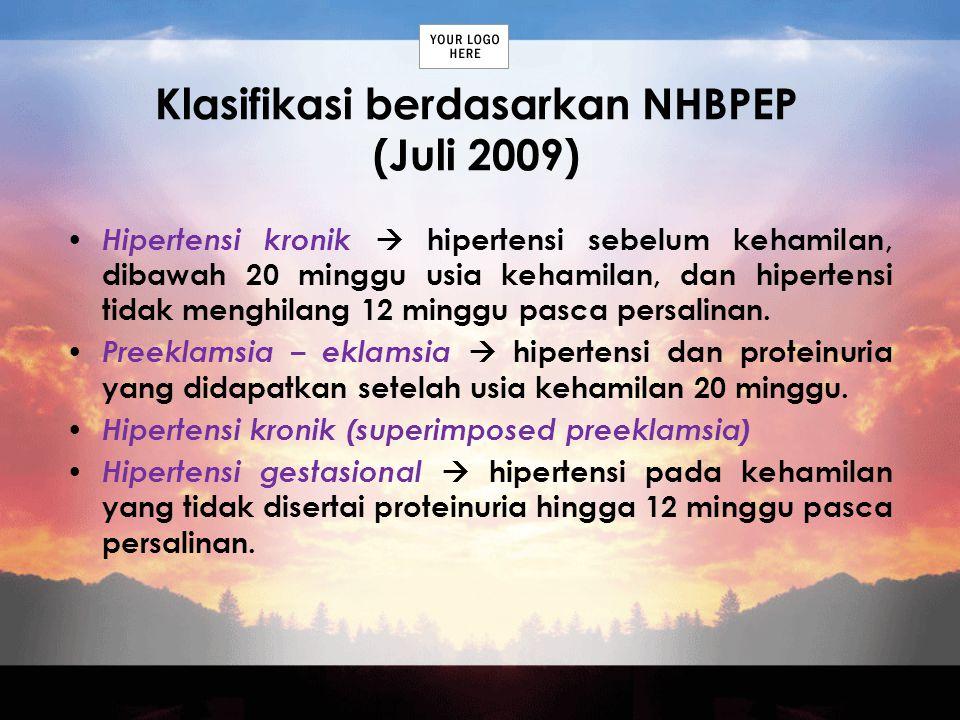 Klasifikasi berdasarkan NHBPEP (Juli 2009)