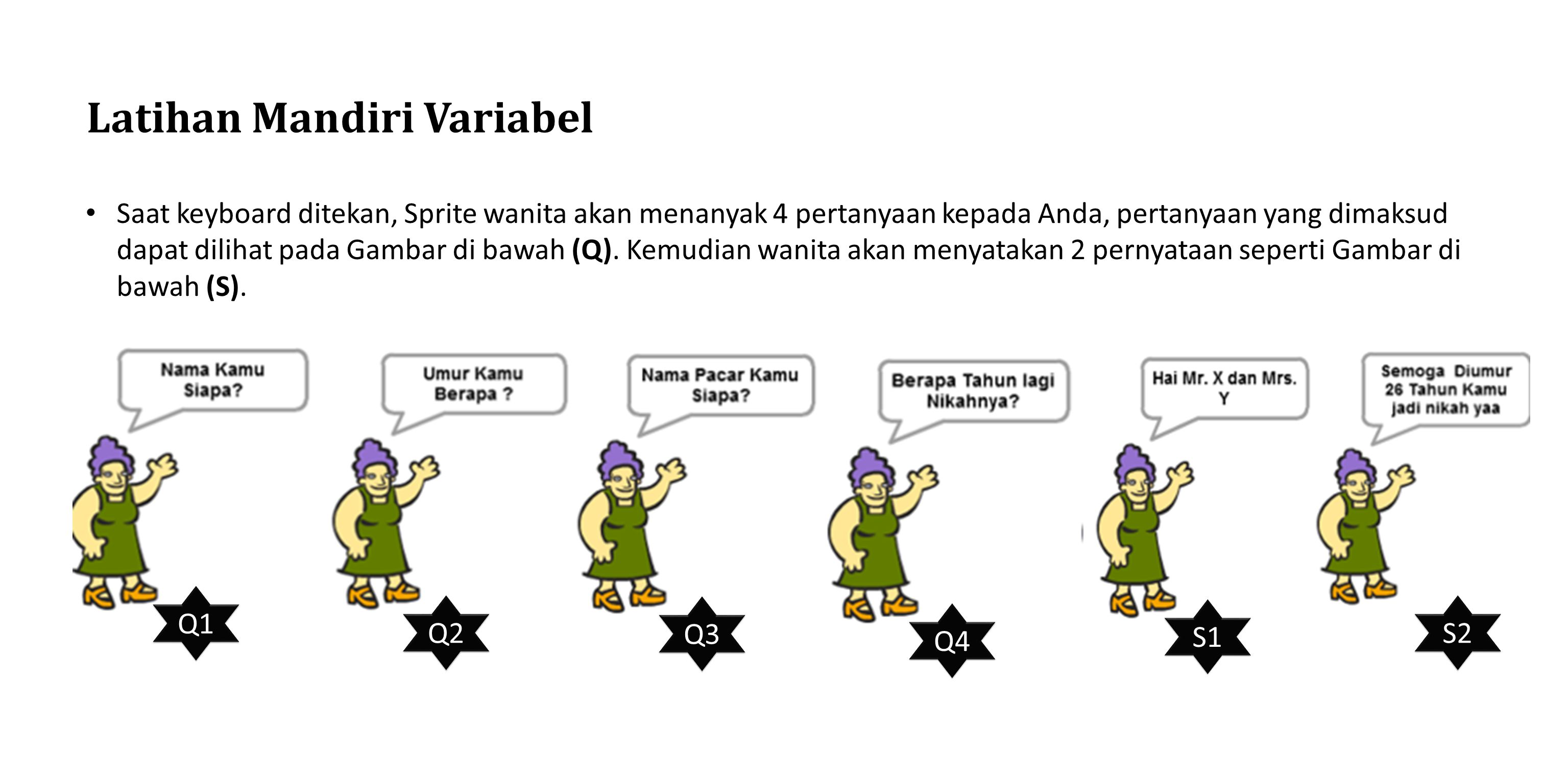 Latihan Mandiri Variabel