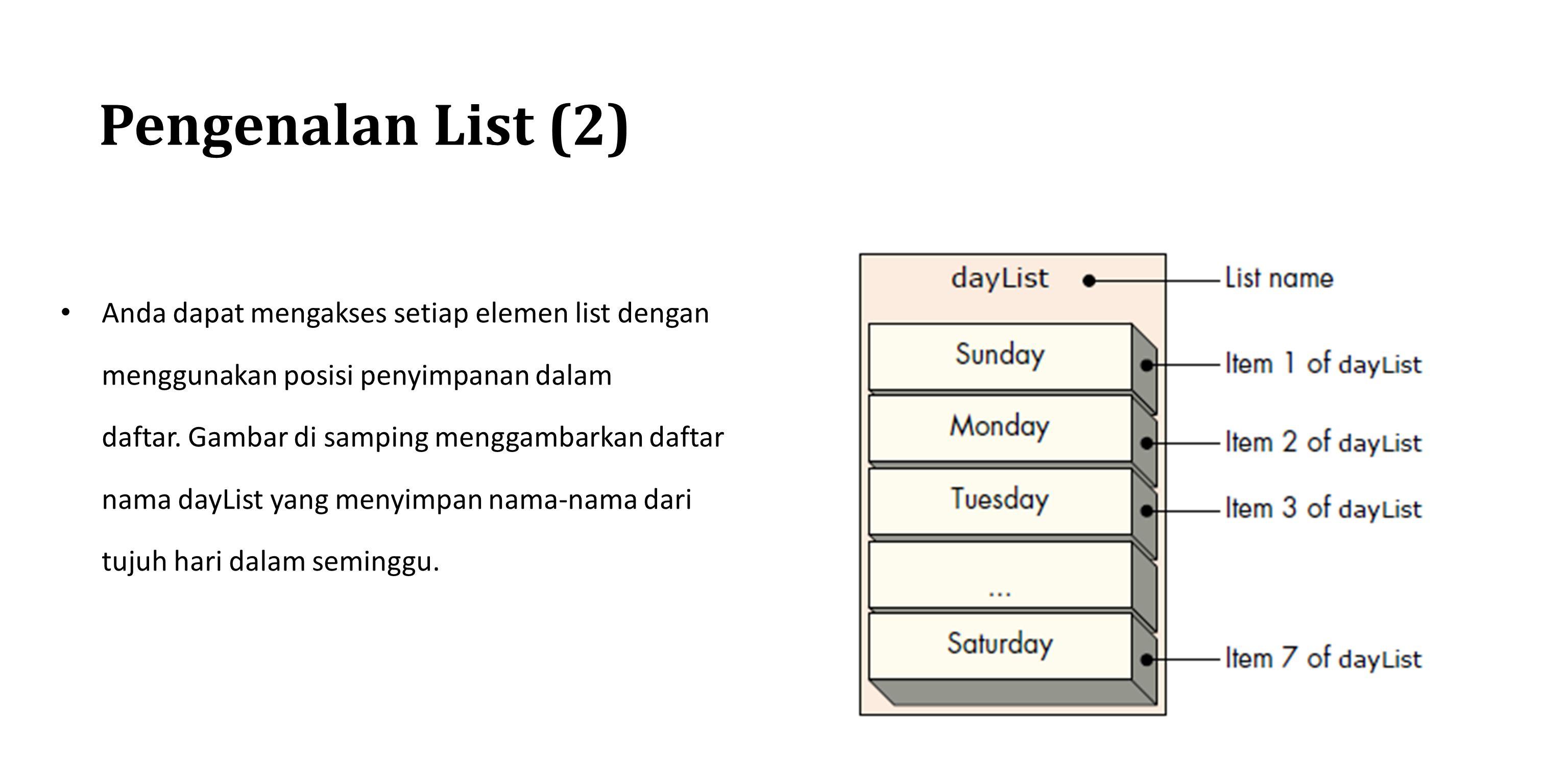 Pengenalan List (2)