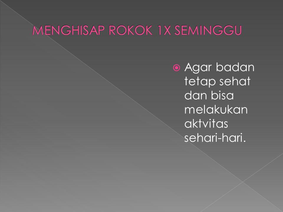 MENGHISAP ROKOK 1X SEMINGGU