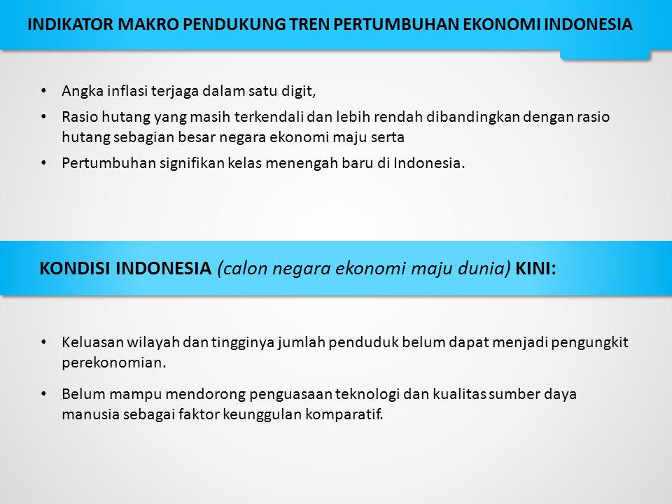 KONDISI INDONESIA (calon negara ekonomi maju dunia) KINI: