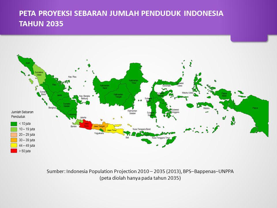 PETA PROYEKSI SEBARAN JUMLAH PENDUDUK INDONESIA TAHUN 2035