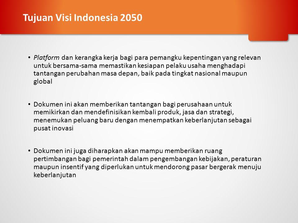 Tujuan Visi Indonesia 2050
