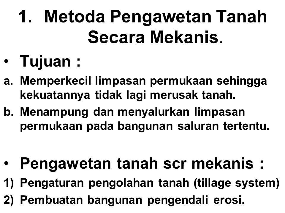 Metoda Pengawetan Tanah Secara Mekanis.