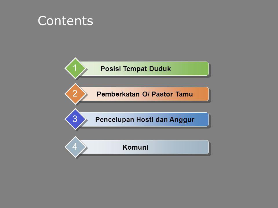 Pemberkatan O/ Pastor Tamu Pencelupan Hosti dan Anggur