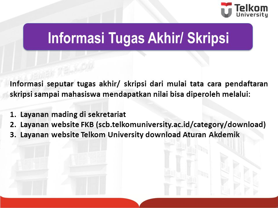 Informasi Tugas Akhir/ Skripsi