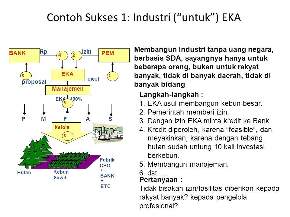 Contoh Sukses 1: Industri ( untuk ) EKA