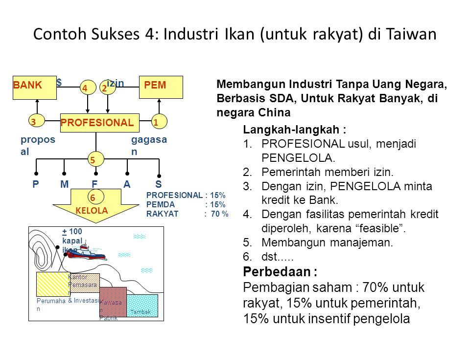 Contoh Sukses 4: Industri Ikan (untuk rakyat) di Taiwan