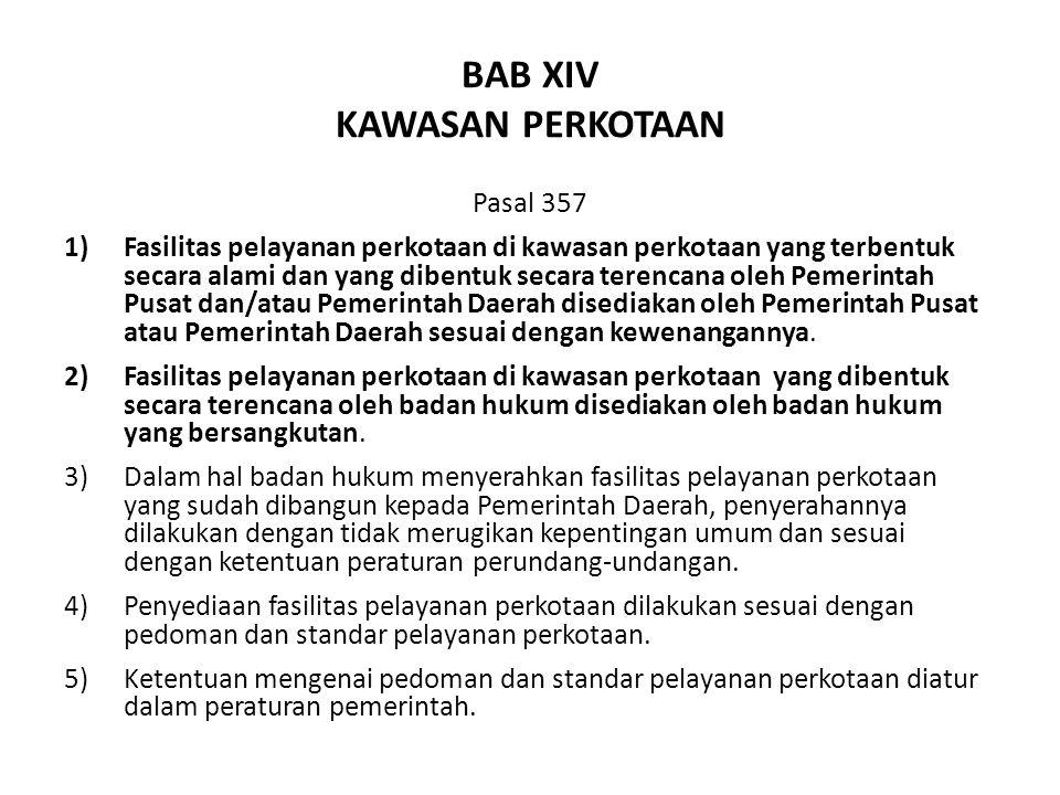 BAB XIV KAWASAN PERKOTAAN