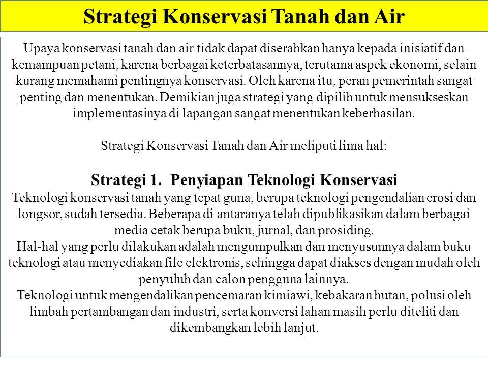 Strategi Konservasi Tanah dan Air