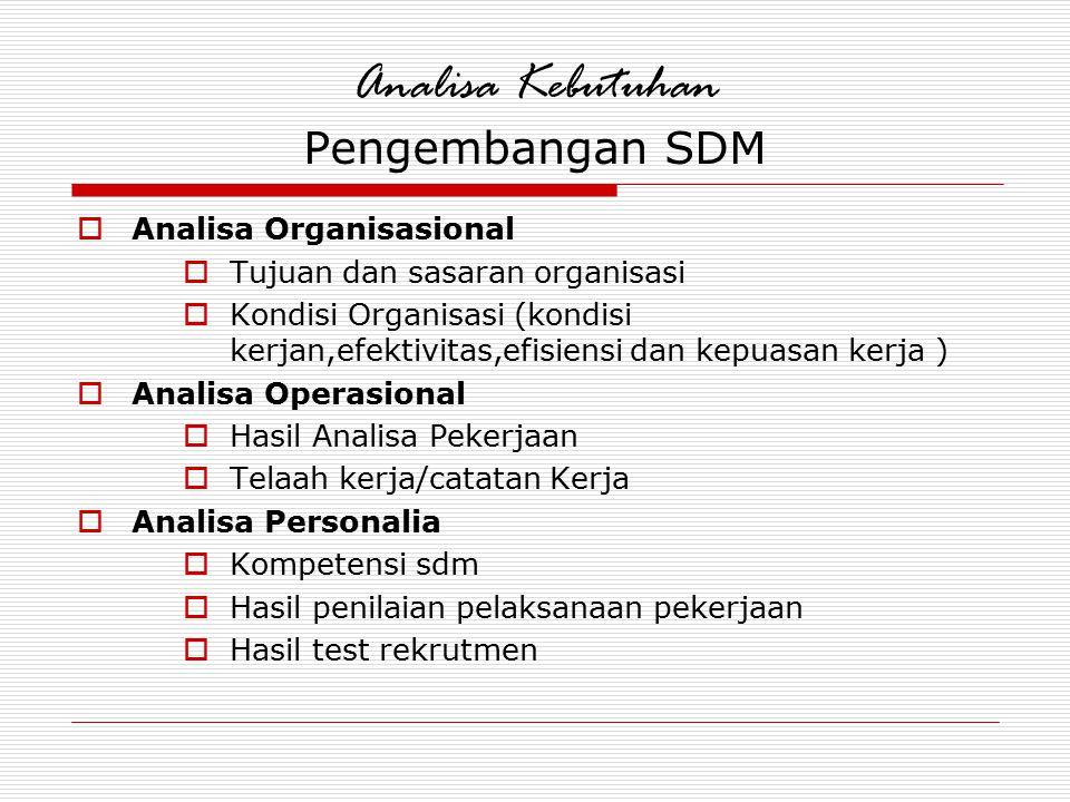 Analisa Kebutuhan Pengembangan SDM