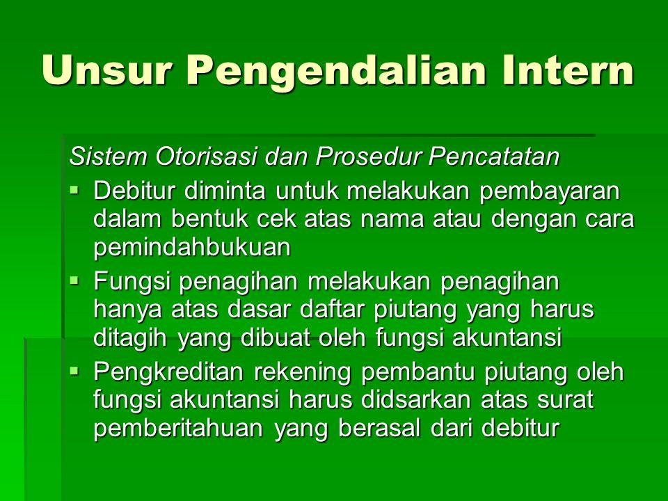 Unsur Pengendalian Intern
