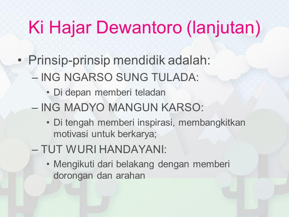 Ki Hajar Dewantoro (lanjutan)