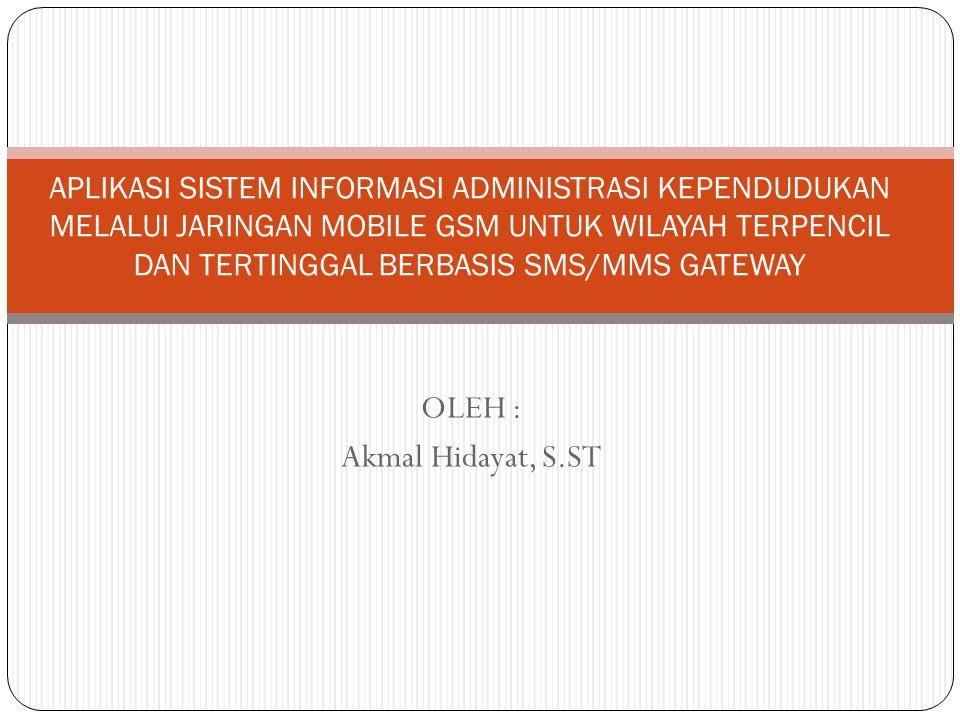 OLEH : Akmal Hidayat, S.ST