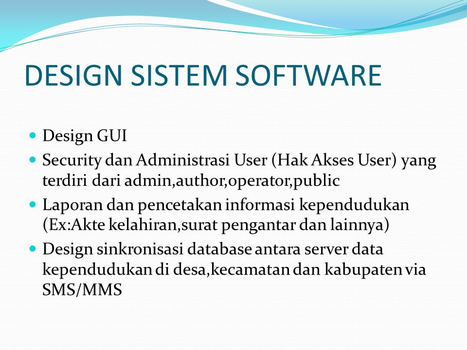 DESIGN SISTEM SOFTWARE