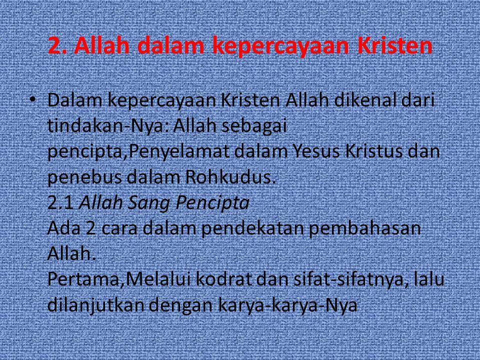 2. Allah dalam kepercayaan Kristen