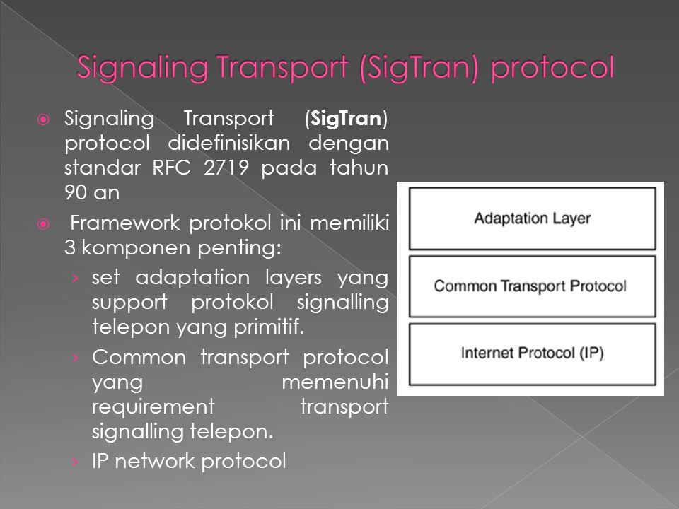Signaling Transport (SigTran) protocol