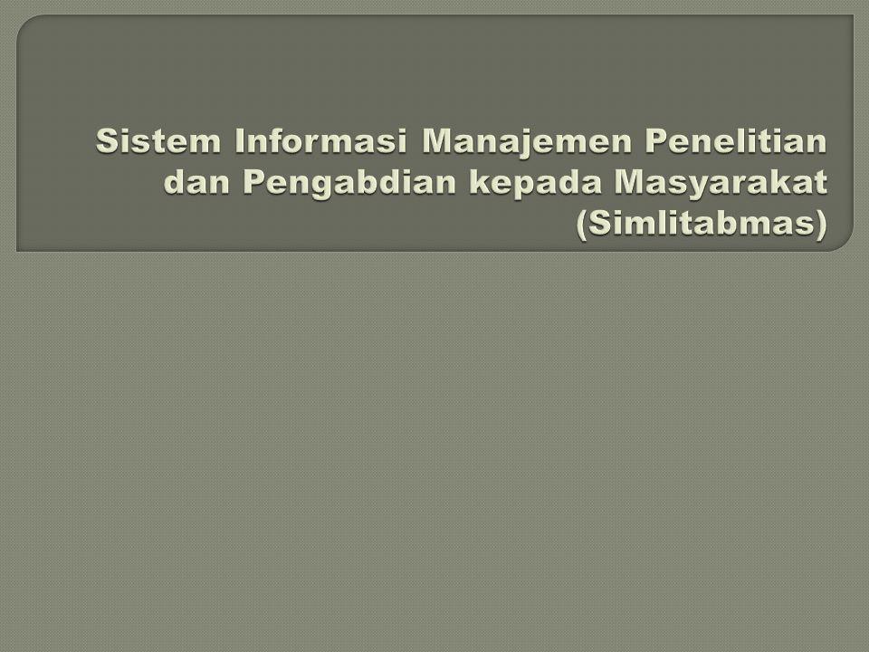 Sistem Informasi Manajemen Penelitian dan Pengabdian kepada Masyarakat (Simlitabmas)