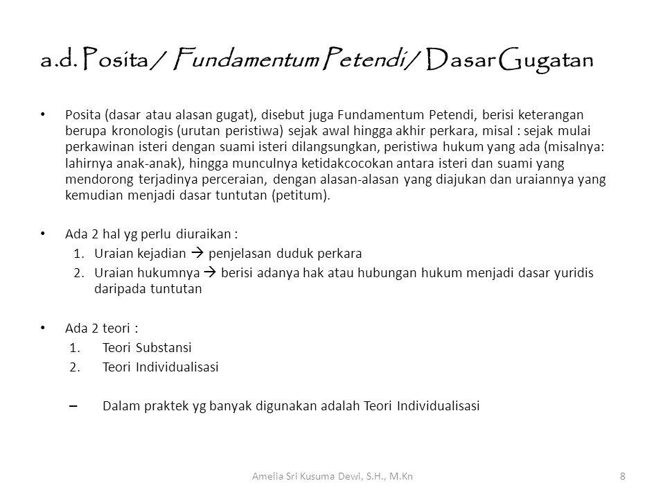 a.d. Posita / Fundamentum Petendi / Dasar Gugatan