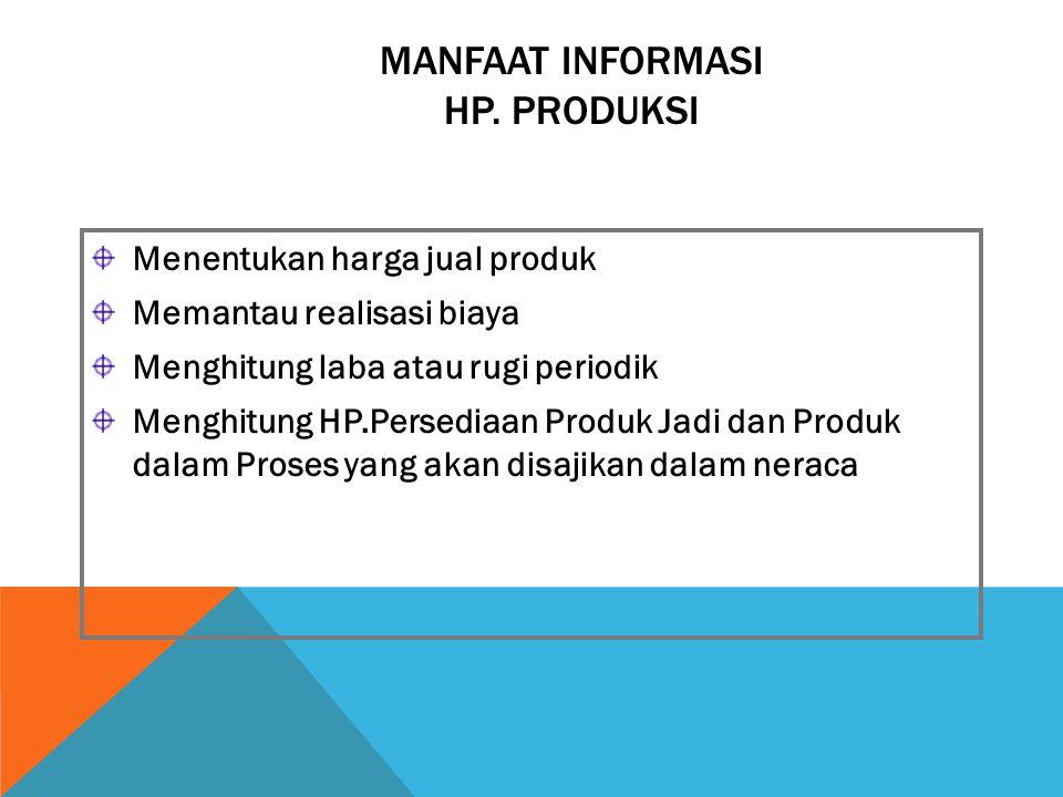 MANFAAT INFORMASI HP. PRODUKSI