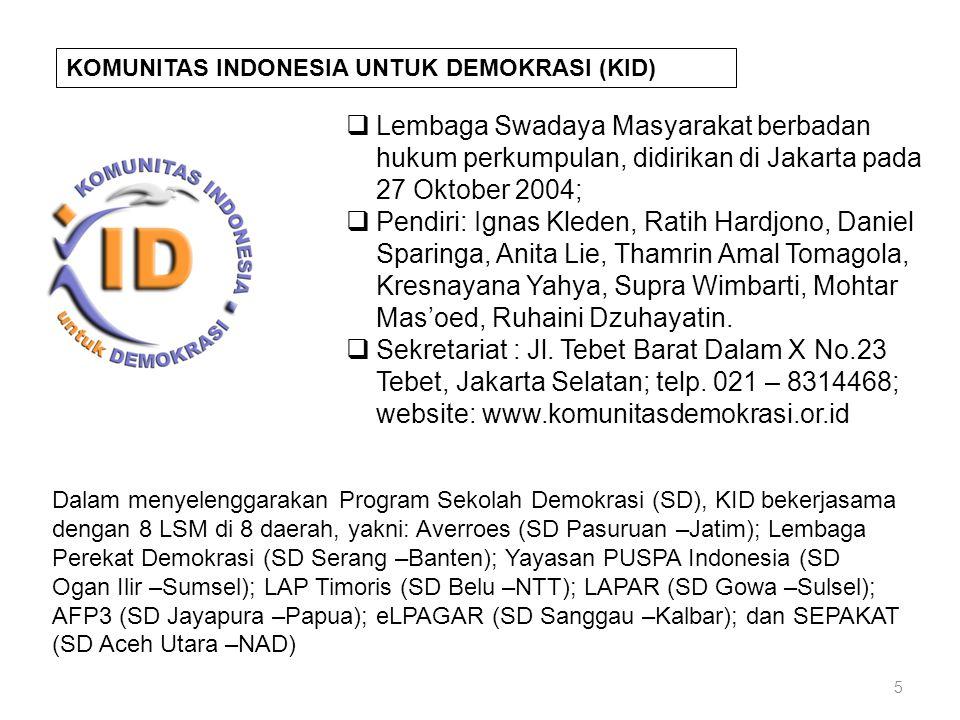 KOMUNITAS INDONESIA UNTUK DEMOKRASI (KID)