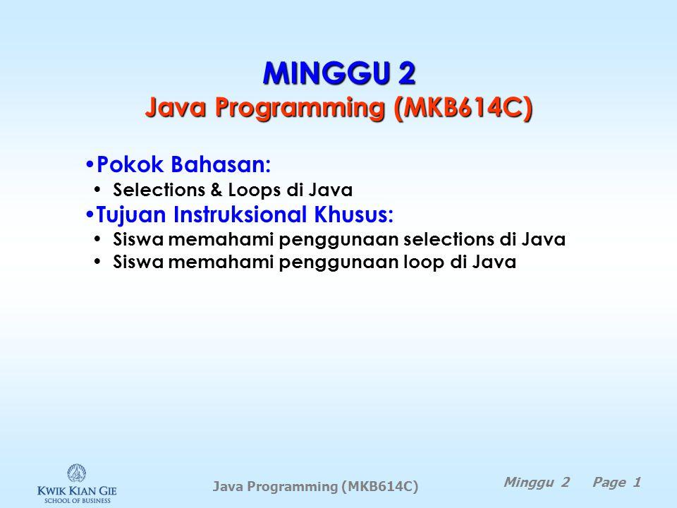 MINGGU 2 Java Programming (MKB614C)