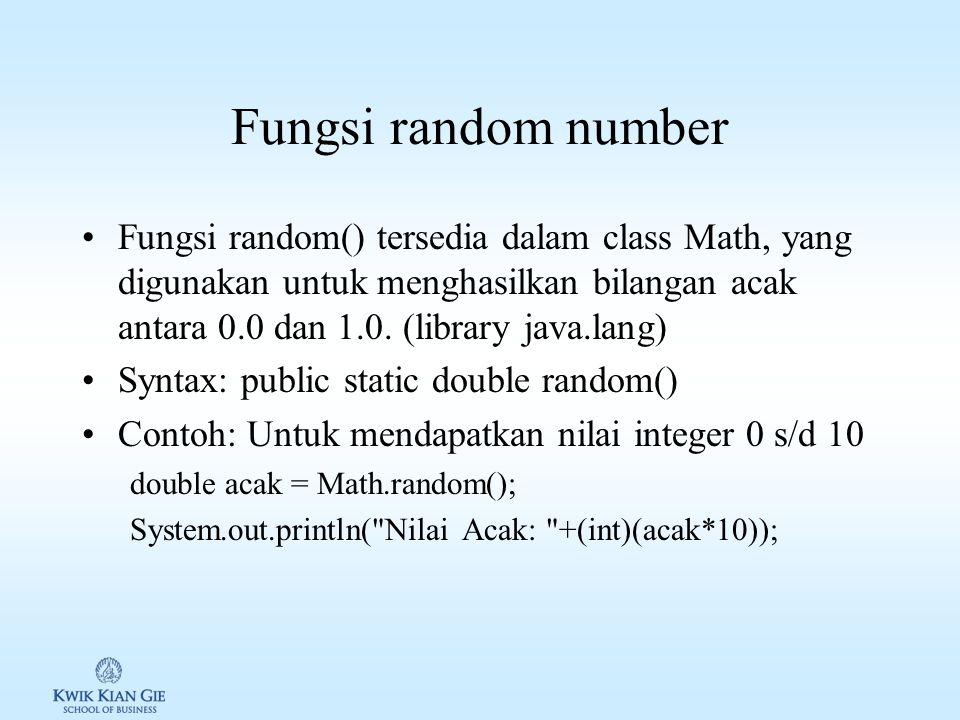 Fungsi random number