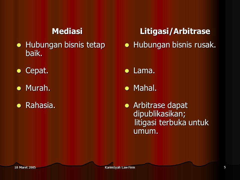 Mediasi Litigasi/Arbitrase