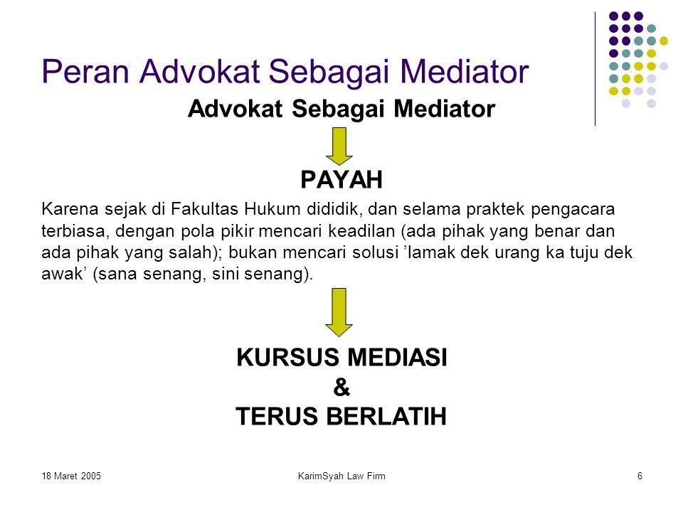 Peran Advokat Sebagai Mediator