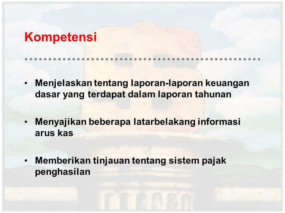 Kompetensi Menjelaskan tentang laporan-laporan keuangan dasar yang terdapat dalam laporan tahunan.