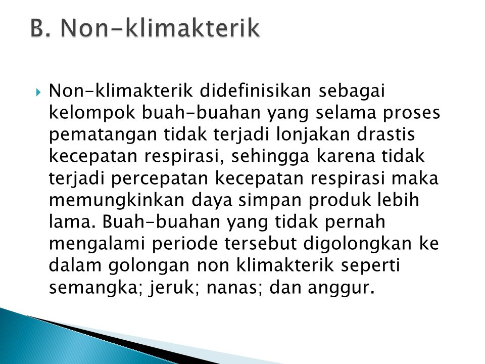 B. Non-klimakterik