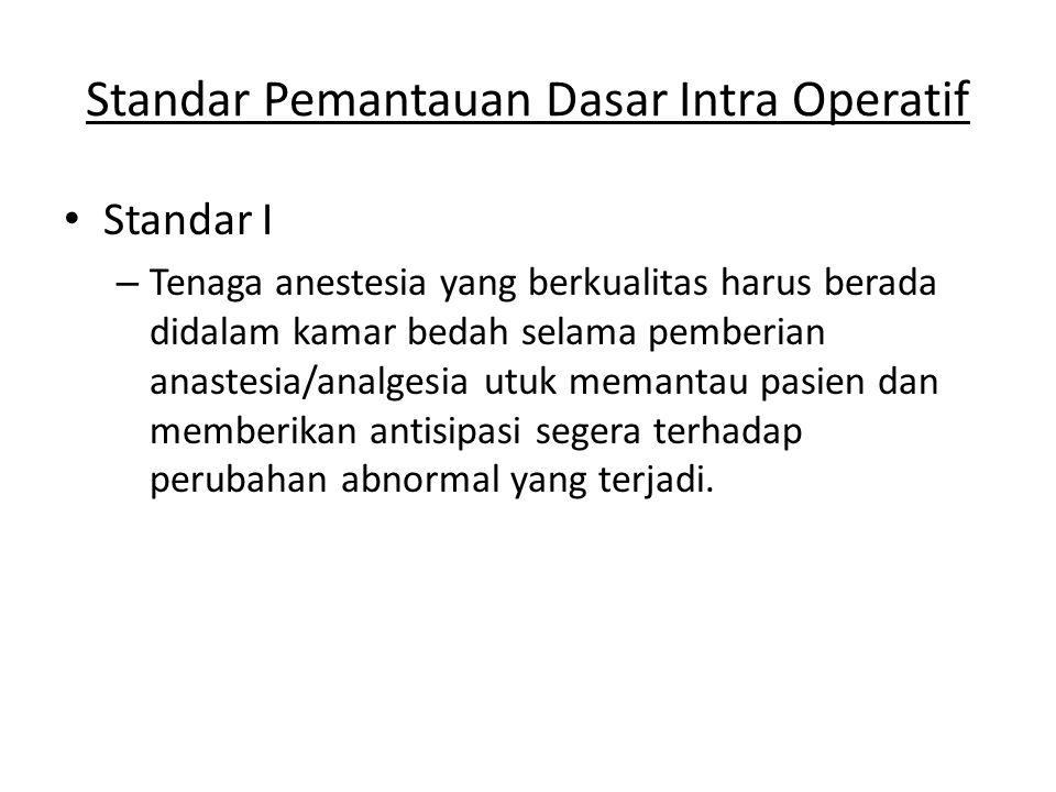 Standar Pemantauan Dasar Intra Operatif