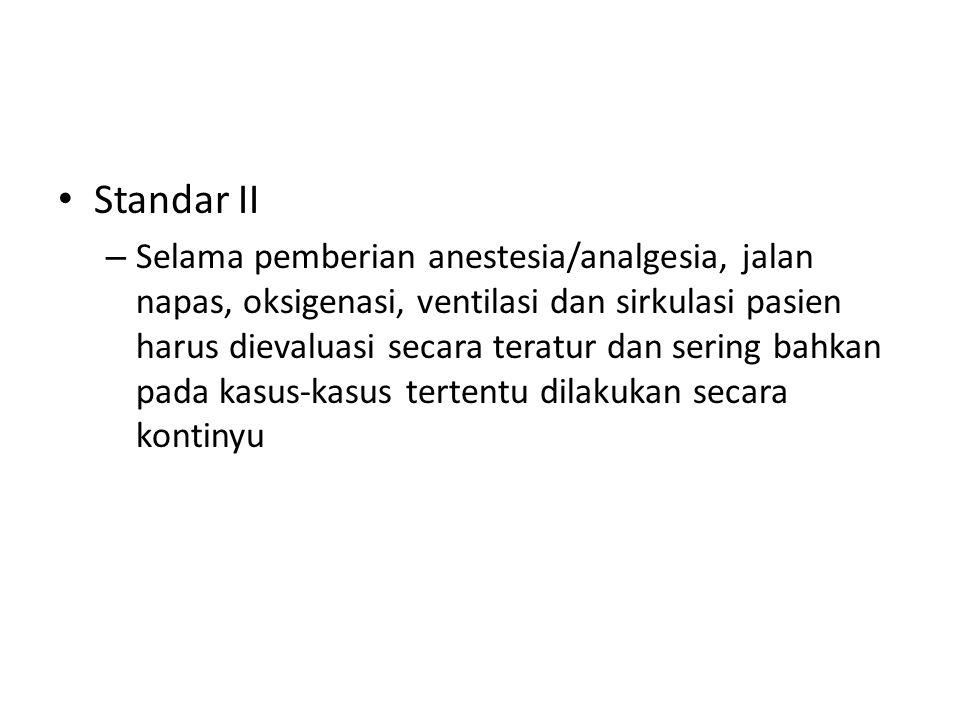 Standar II