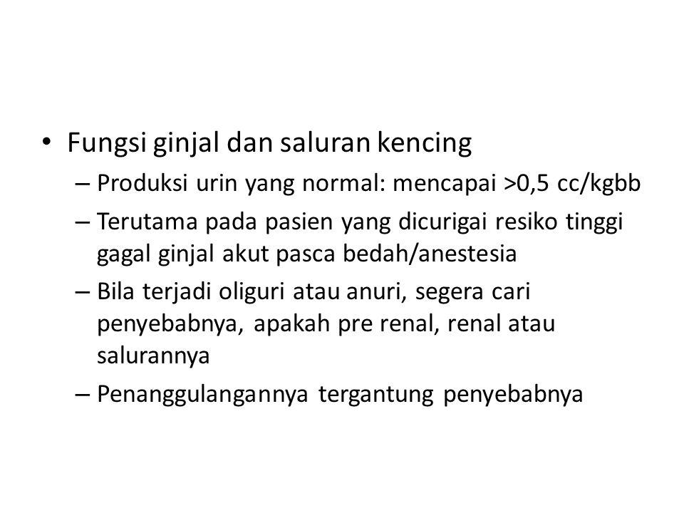 Fungsi ginjal dan saluran kencing
