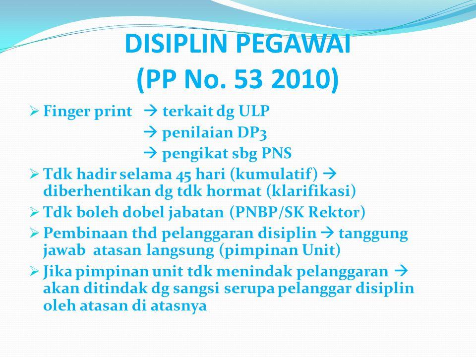 DISIPLIN PEGAWAI (PP No. 53 2010)
