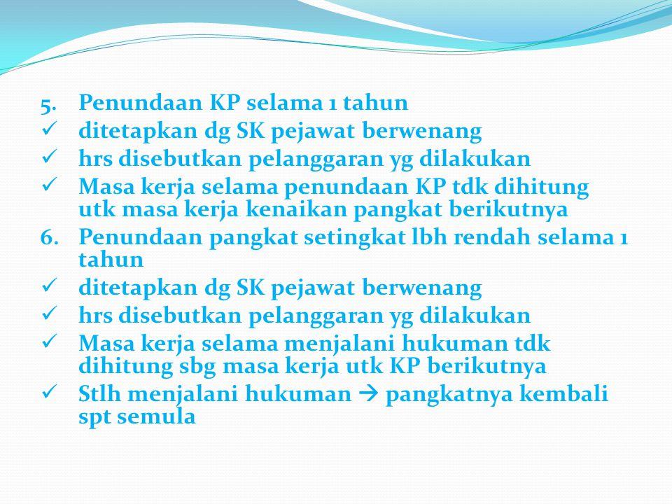Penundaan KP selama 1 tahun