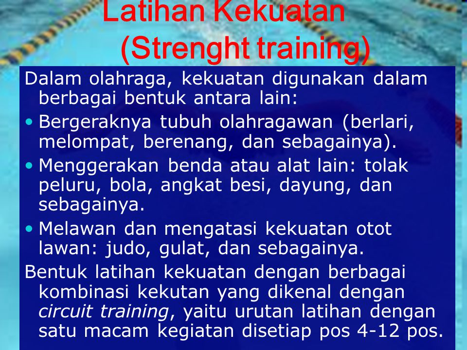 Latihan Kekuatan (Strenght training)