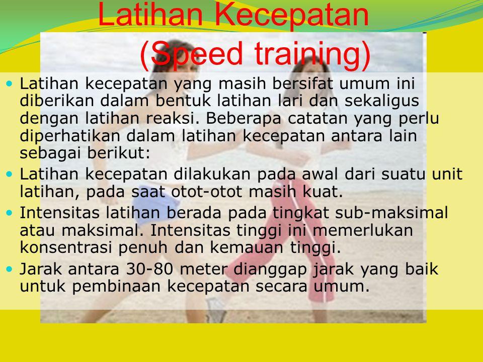 Latihan Kecepatan (Speed training)