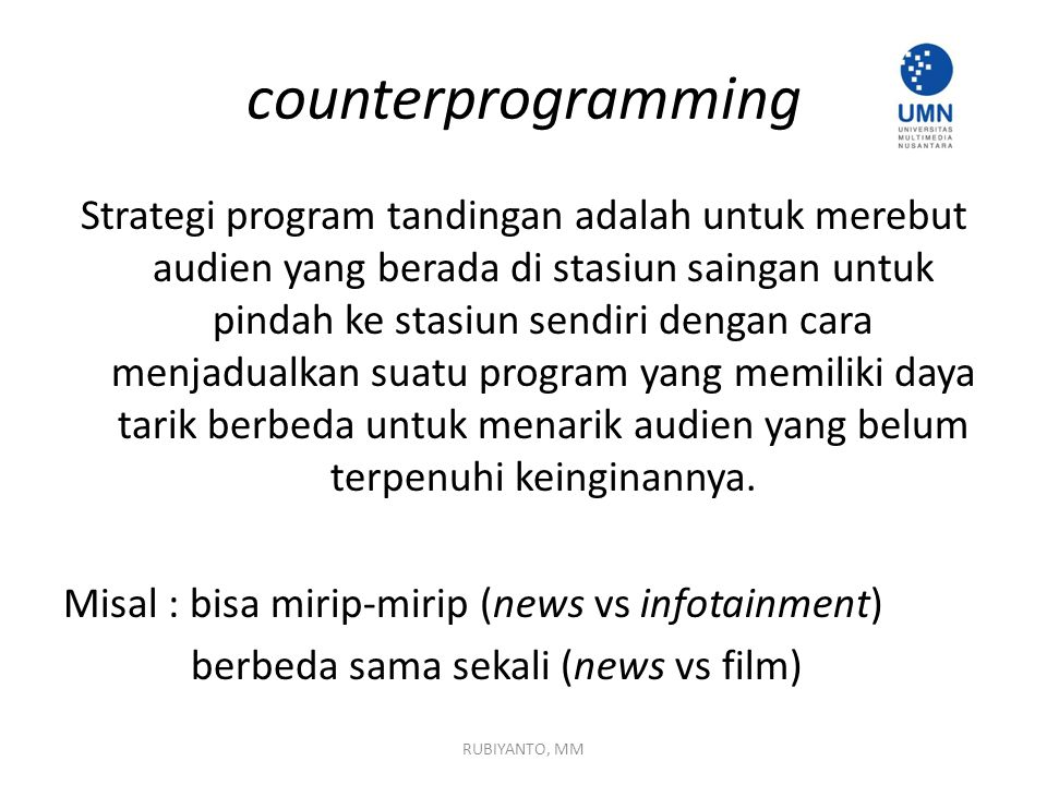 counterprogramming