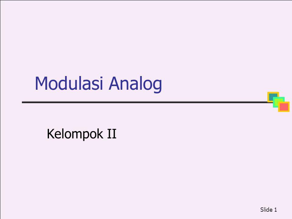 Modulasi Analog Kelompok II
