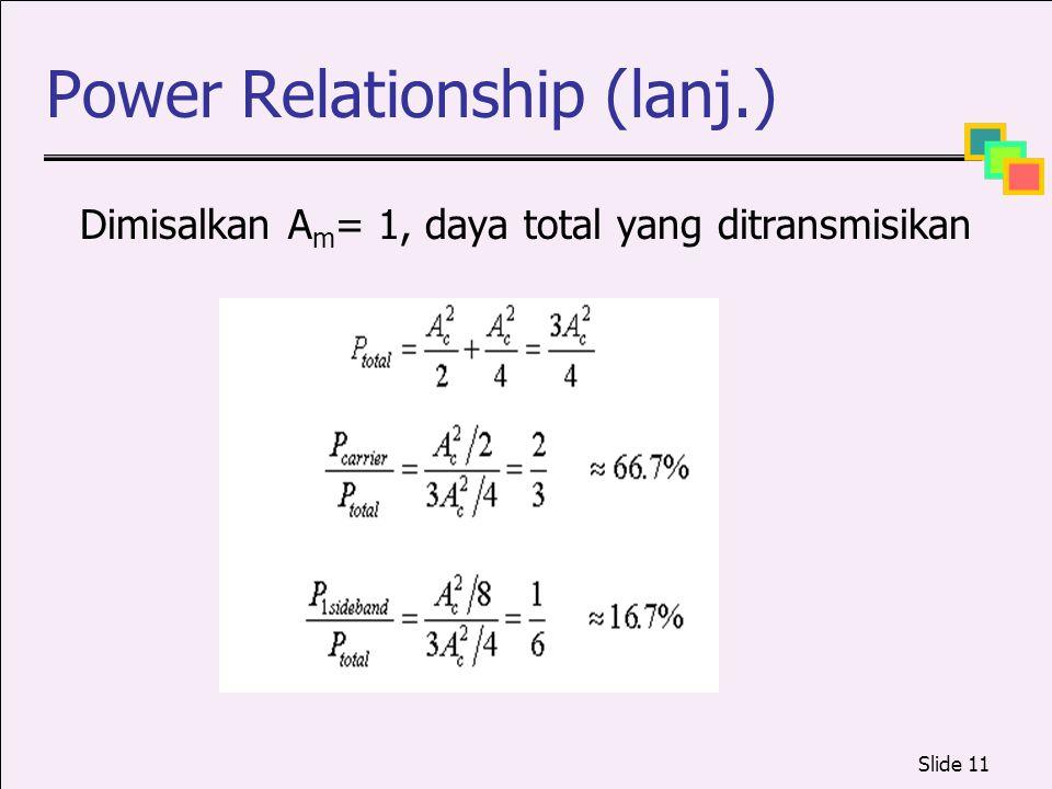 Power Relationship (lanj.)