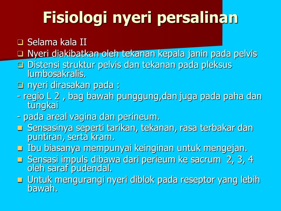 Fisiologi nyeri persalinan