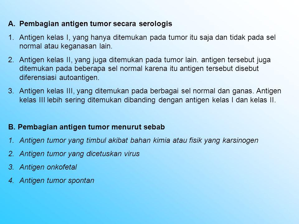 Pembagian antigen tumor secara serologis